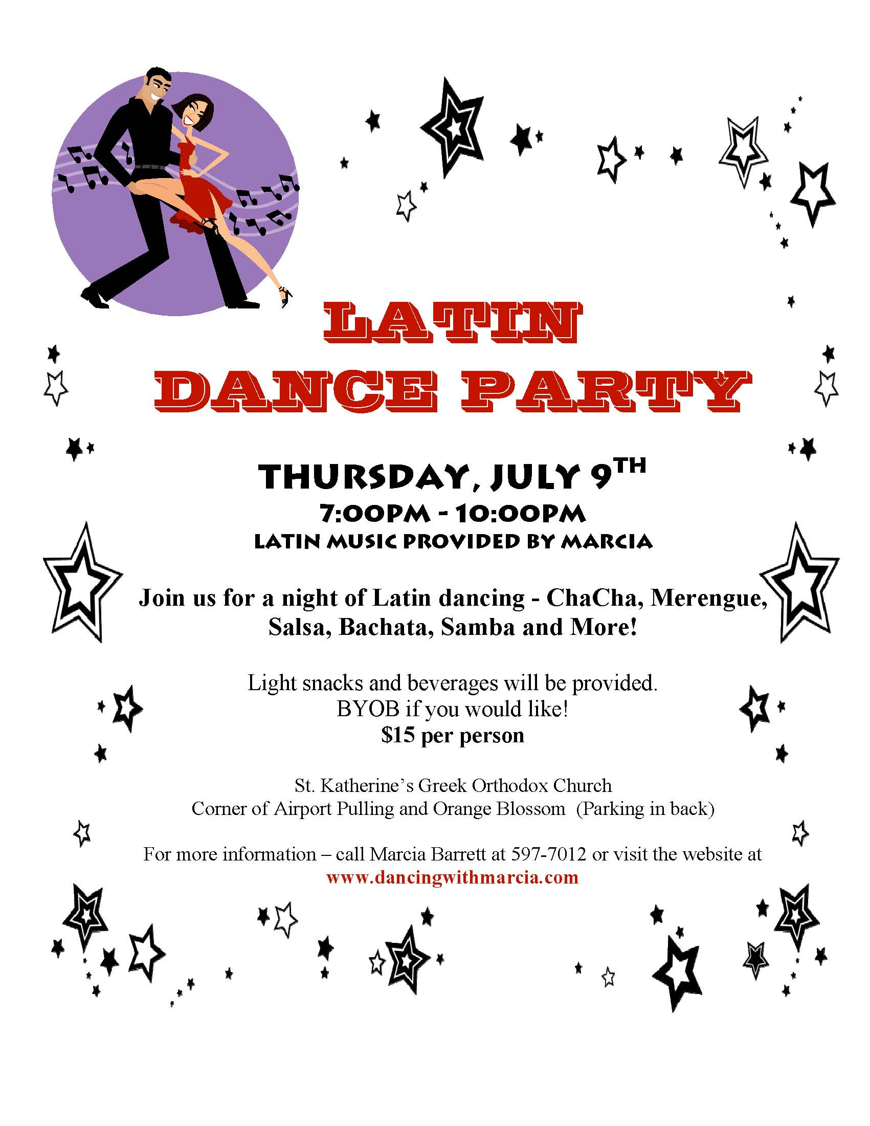 latin dance party flyer